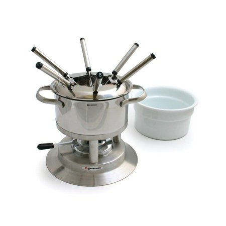 Swissmar - Fondue - 11 Pcs Arosa Stainless Steel Fondue Set ()