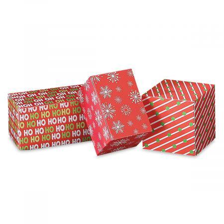 Christmas Gift Box.Christmas Gift Box Assortment Set Of 9 Holiday Print Gift Boxes