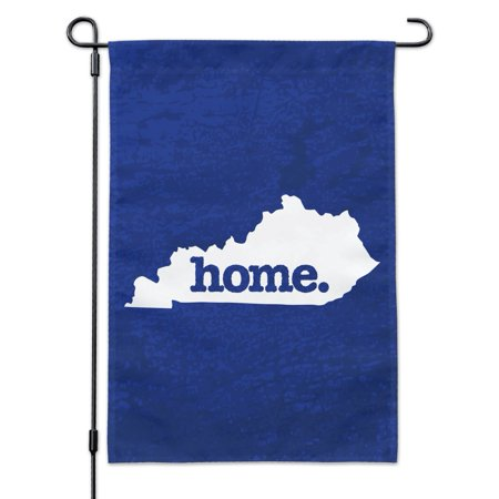 Kentucky Yard - Kentucky KY Home State Textured Navy Blue Officially Licensed Garden Yard Flag with Pole Stand Holder