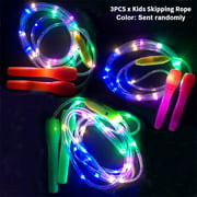 FAVOLOOK Training Excercise Party Light Up Kids Skipping Rope Outdoor Games Glowing