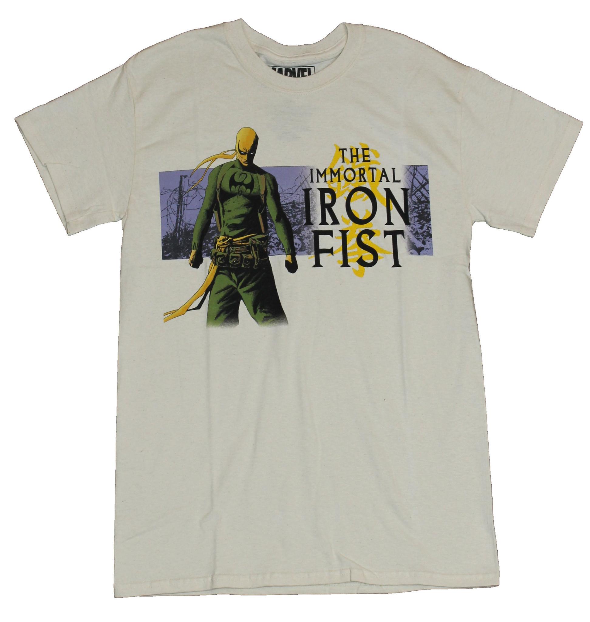 Iron Fist (Marvel Comics) Mens T-Shirt - The Immortal Iron Fist Back Turned
