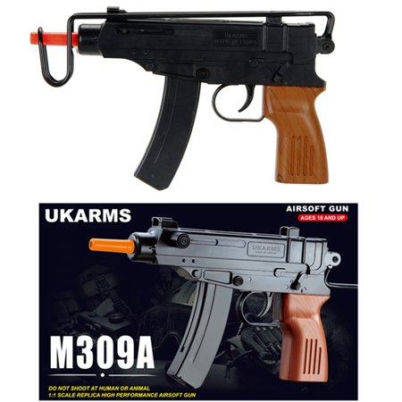 M309A UKARMS SPETSNAZ UZI SCORPION Spring Powered Airsoft Gun - Black