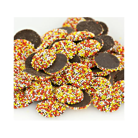 Autumn Nonpareils Dark Chocolate Candy Fall Halloween Nonpareils 1 pound (Halloween Candy Clearance 2017)