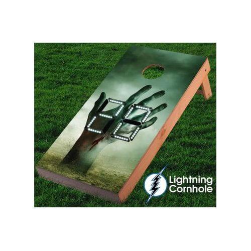 Lightning Cornhole Electronic Scoring Zombie Hand Cornhole Board