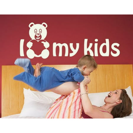 I Love my Kids Wall Decal - wall decal, sticker, mural vinyl art home decor quotes and sayings - 4386 - White, 16in x 6in](Halloween Sayings Kids)