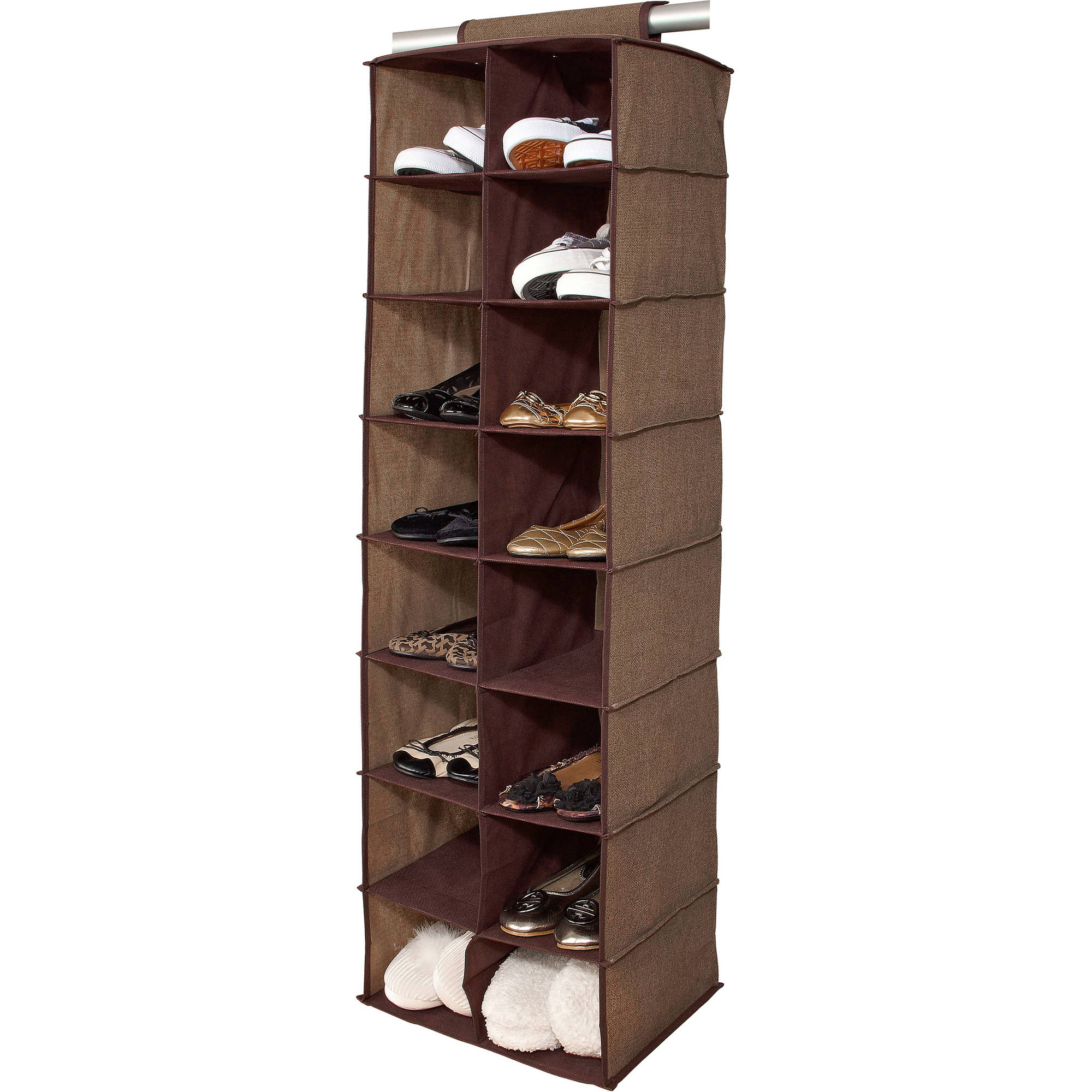 Simplify 16-Pocket Shoe Organizer, Multiple Colors