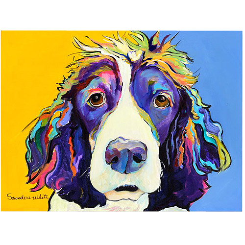 "Trademark Art ""Sadie"" Canvas Art by Pat Saunders-White"