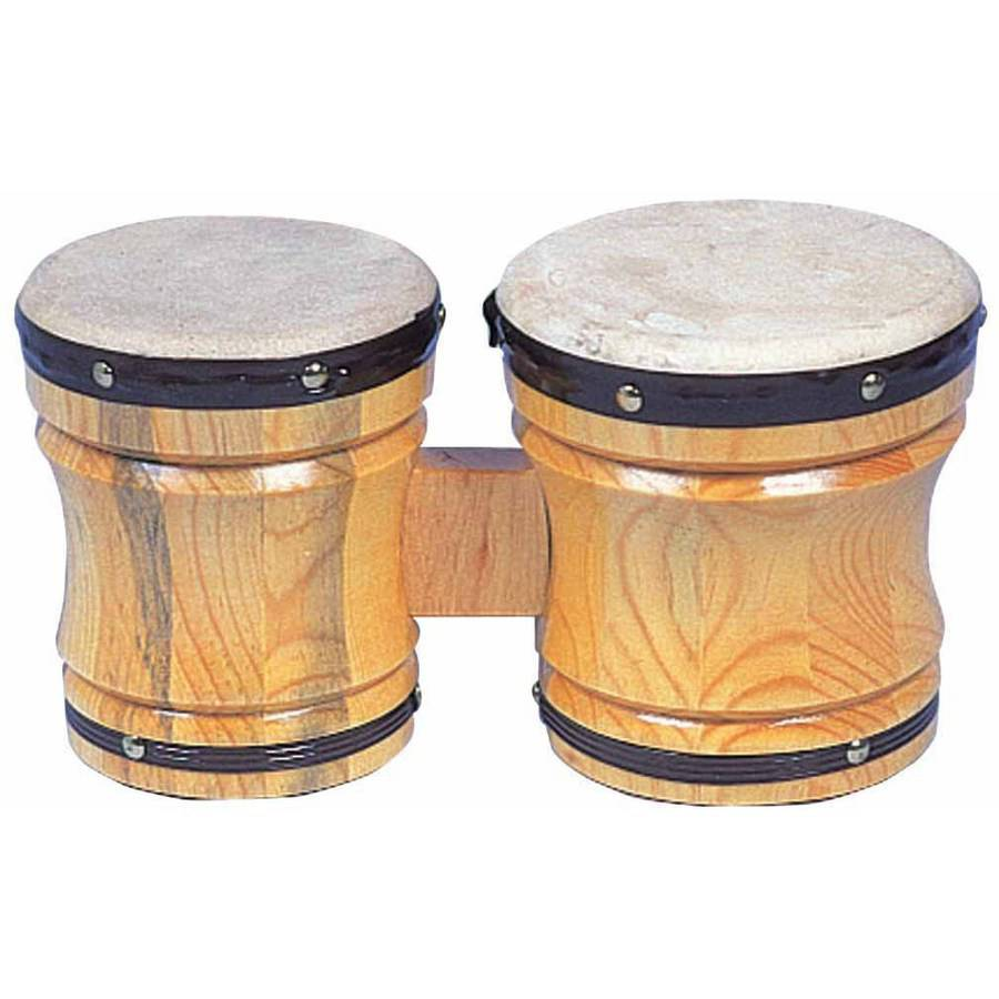 "Rhythm Band Bongo Hardwood Drum, Medium, 6"" x 5"" x 6"" by Rhythm Band Instruments LLC"