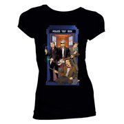 Doctor Who Womens 4 Doctors Band T-Shirt