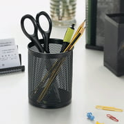 Bluelans Round Mesh Pencil Pen Stationery Holder Container Organizer Office Supplies