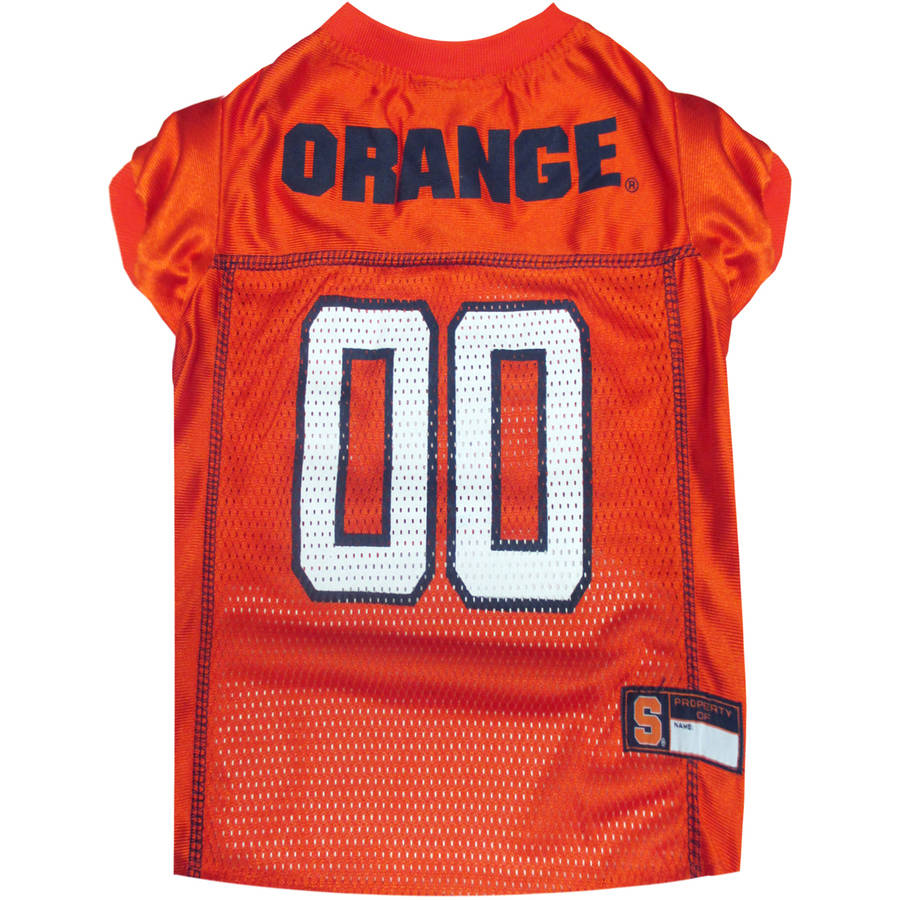 Pets First College Syracuse Orange Collegiate Dog Jersey, Available in Various Sizes