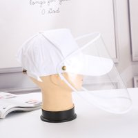 Protective Hat Anti-Saliva Anti-Dust Face Protection Adjustable Detachable Protective Cap