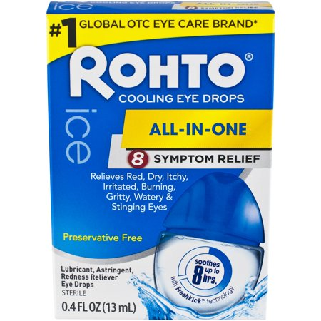 Rohto Ice Redness Relief, 0.4 Oz