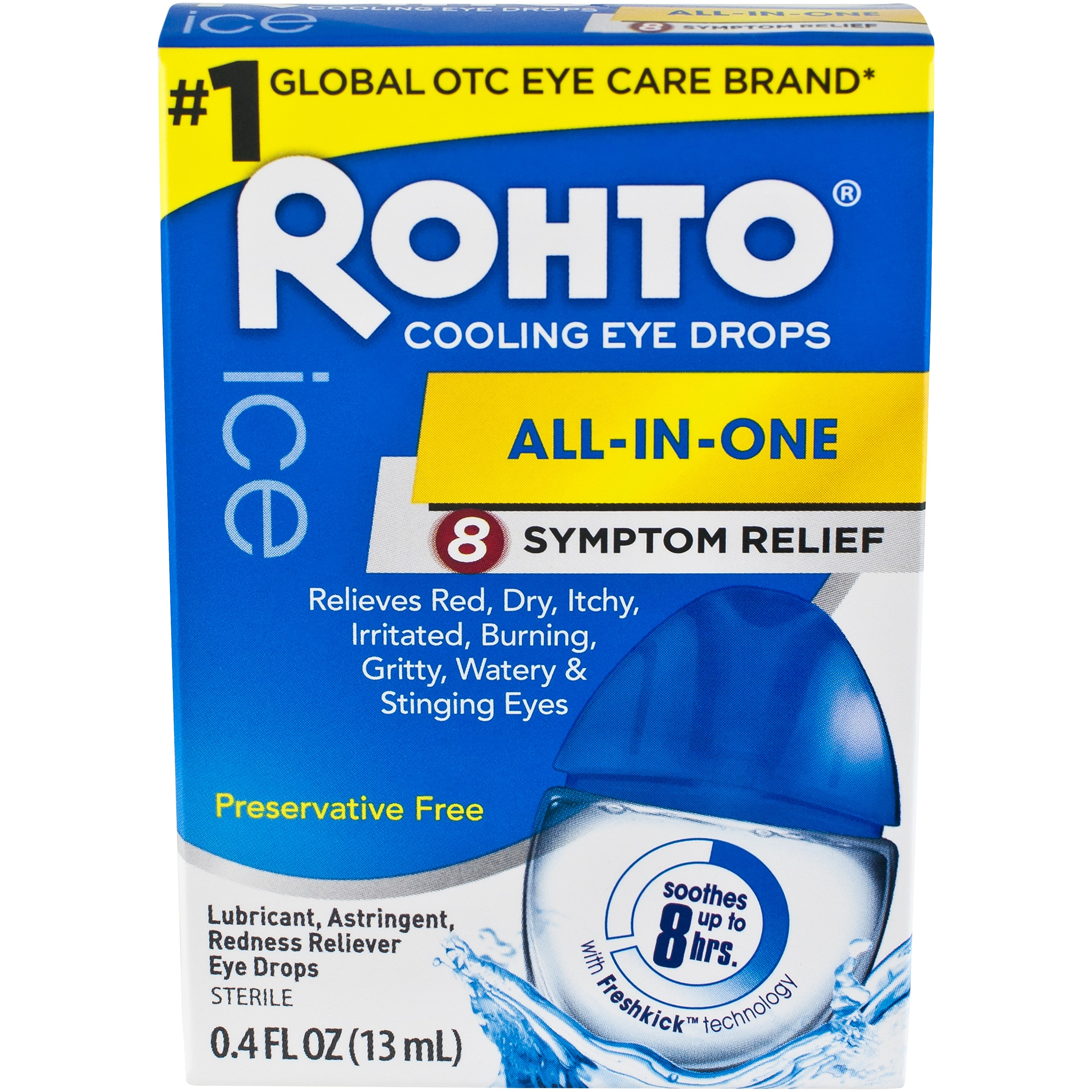 Rohto Ice Redness Relief, 0.4 Fl Oz
