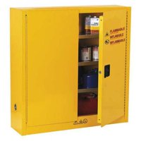 CONDOR 42X498 Flammable Safety Cabinet, 24 gal., Yellow