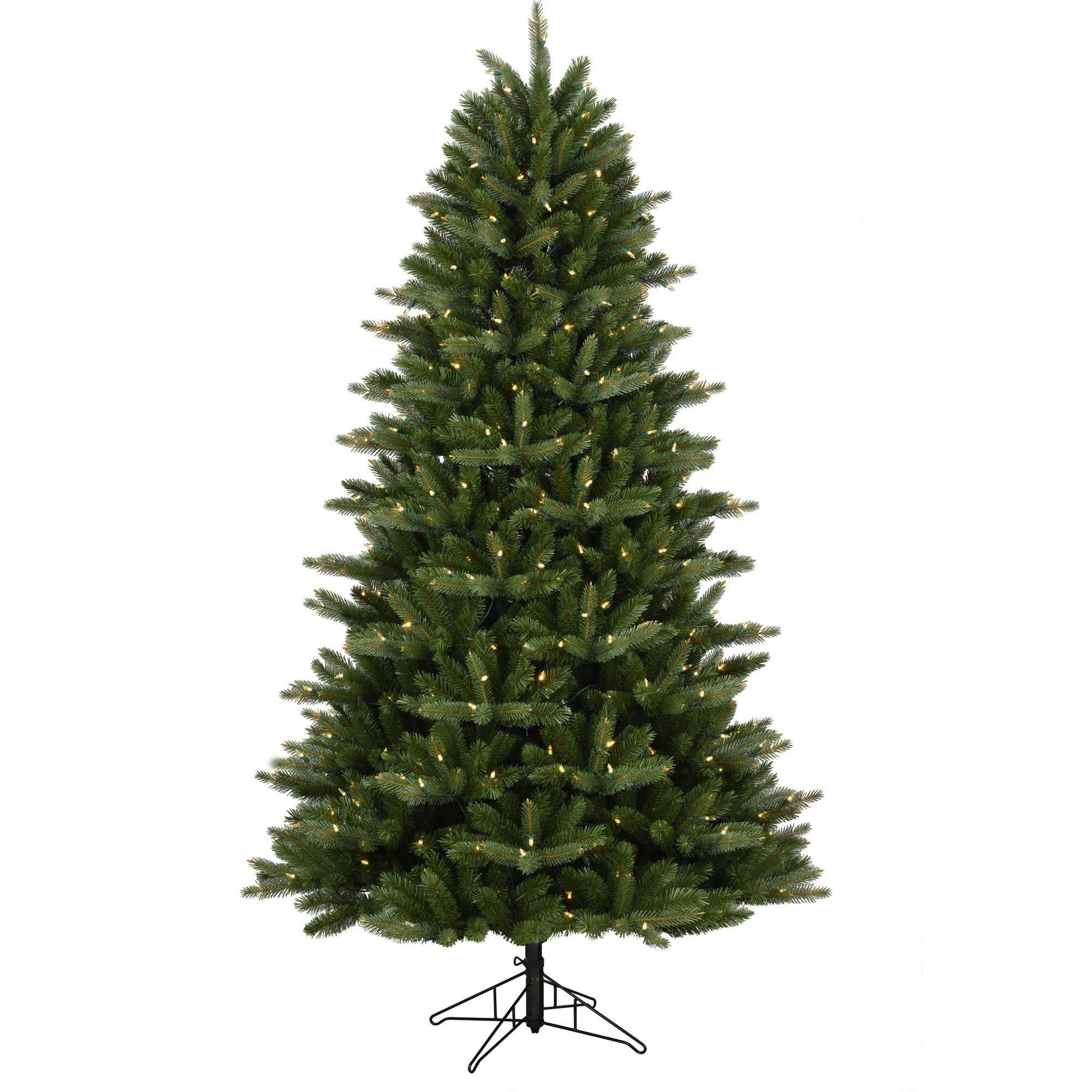 GE Pre-Lit 7.5' Douglas Fir Artificial Christmas Tree, Dual Color ...