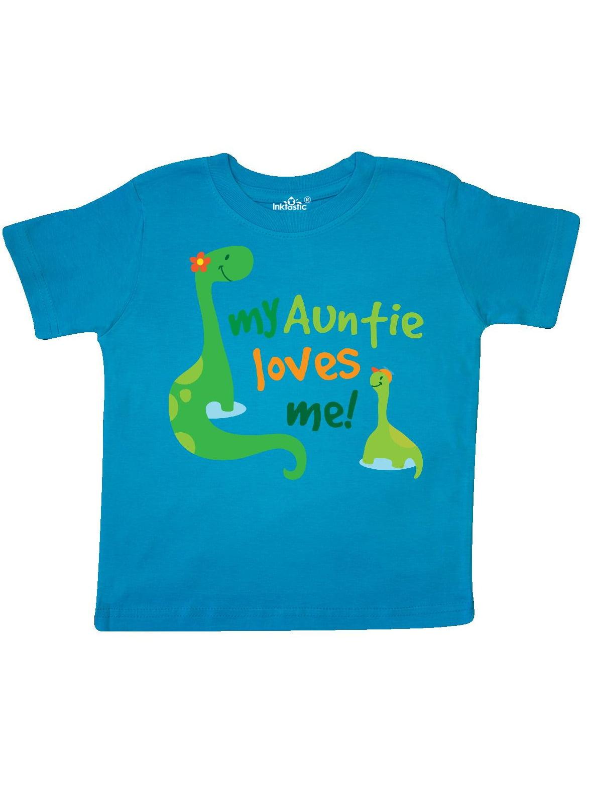 My Auntie Loves Me dinosaur Toddler T-Shirt