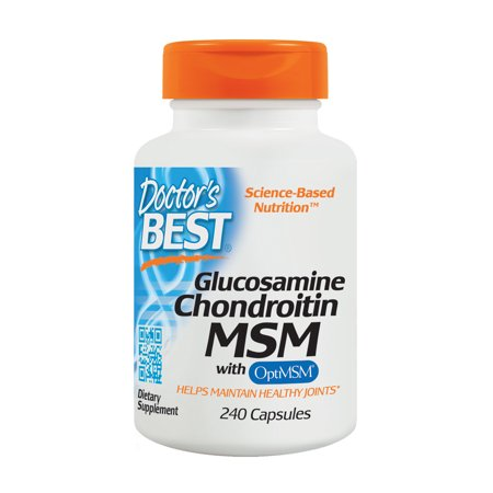 Doctor's Best Glucosamine Chondroitin MSM with OptiMSM, Joint Support, Non-GMO, Gluten Free, Soy Free, 240