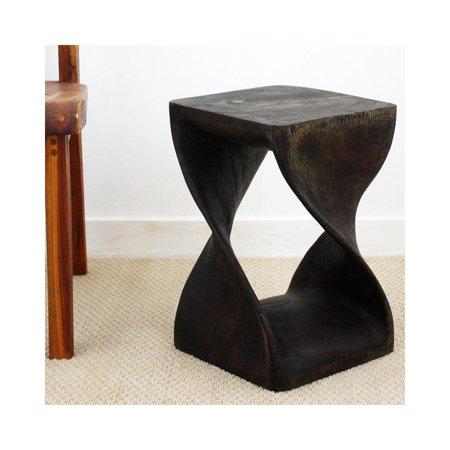 Mocha Twist (Haussmann Twist Stool 12 In Sq X 18 In H Mocha)