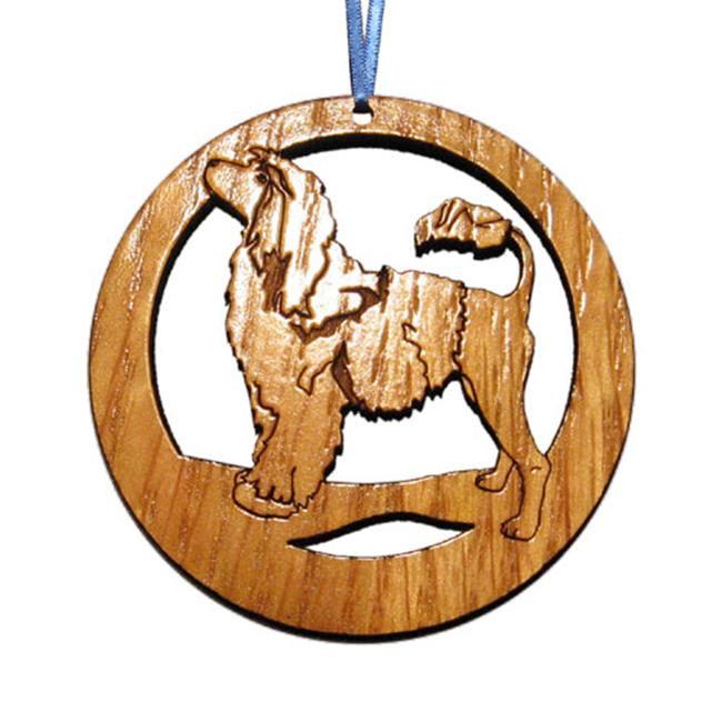 CAMIC designs DOG021N Laser-Etched Portuguese Water Dog Ornaments - Set of 6