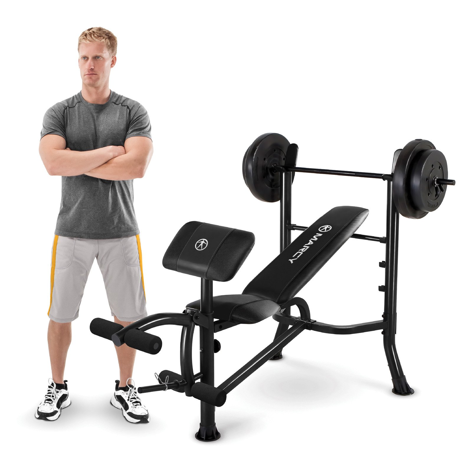 Marcy MWB-20101 Standard Bench + 80-Pound Weight Set