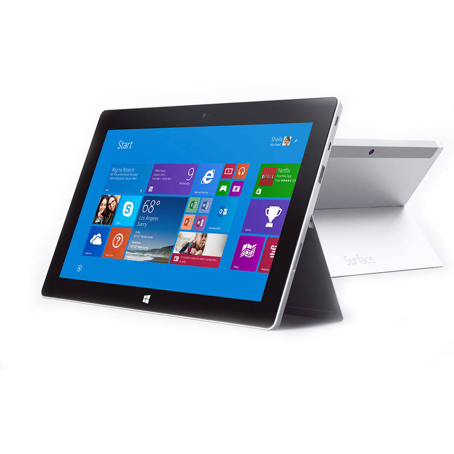 "Certified Refurbished Microsoft Surface 2 with WiFi 10.6"" Touchscreen Tablet PC Featuring Windows RT 8.1 Operating System, Dark Titanium"