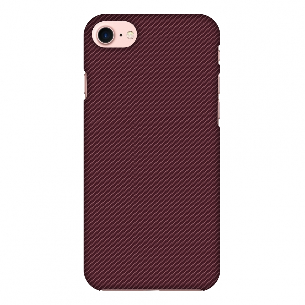 iPhone 8 Case - Tawny Port Texture, Hard Plastic Back Cover. Slim Profile Cute Printed Designer Snap on Case with Screen Cleaning Kit