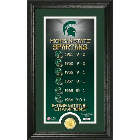 NCAA Photo Mint by The Highland Mint, Legacy - MSU Spartans
