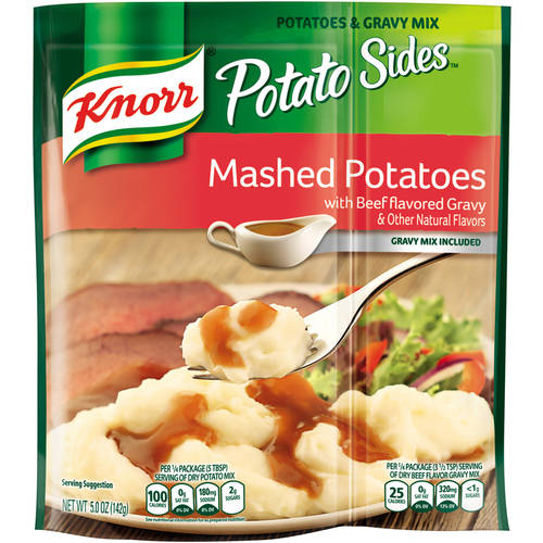 Knorr Potato Sides Mashed Potatoes with Beef Flavored Gravy Mix, 5 oz