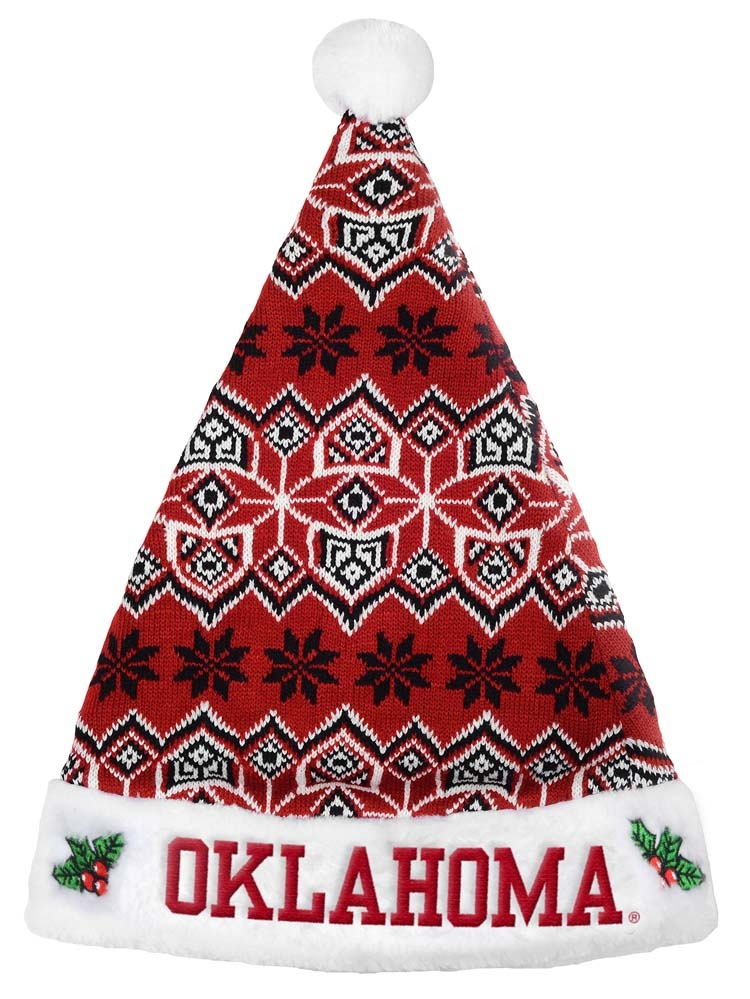 Oklahoma Sooners Knit Santa Hat 2015 by Forever Collectibles