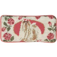 Eyeglass Case Maltese Dog 3.5x7 Wool New Hand-Embroidered Petit Point Emb JK-198