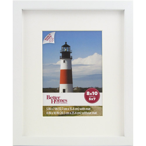 Better Homes and Gardens 8x10 Gallery Picture Frame, White