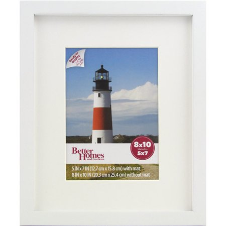 better homes and gardens 8x10 gallery picture frame white