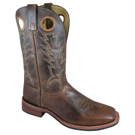 "Smoky Mountain Men's 11"" Blake Bomber Tan/Brown Crackle Western Boots 4655"