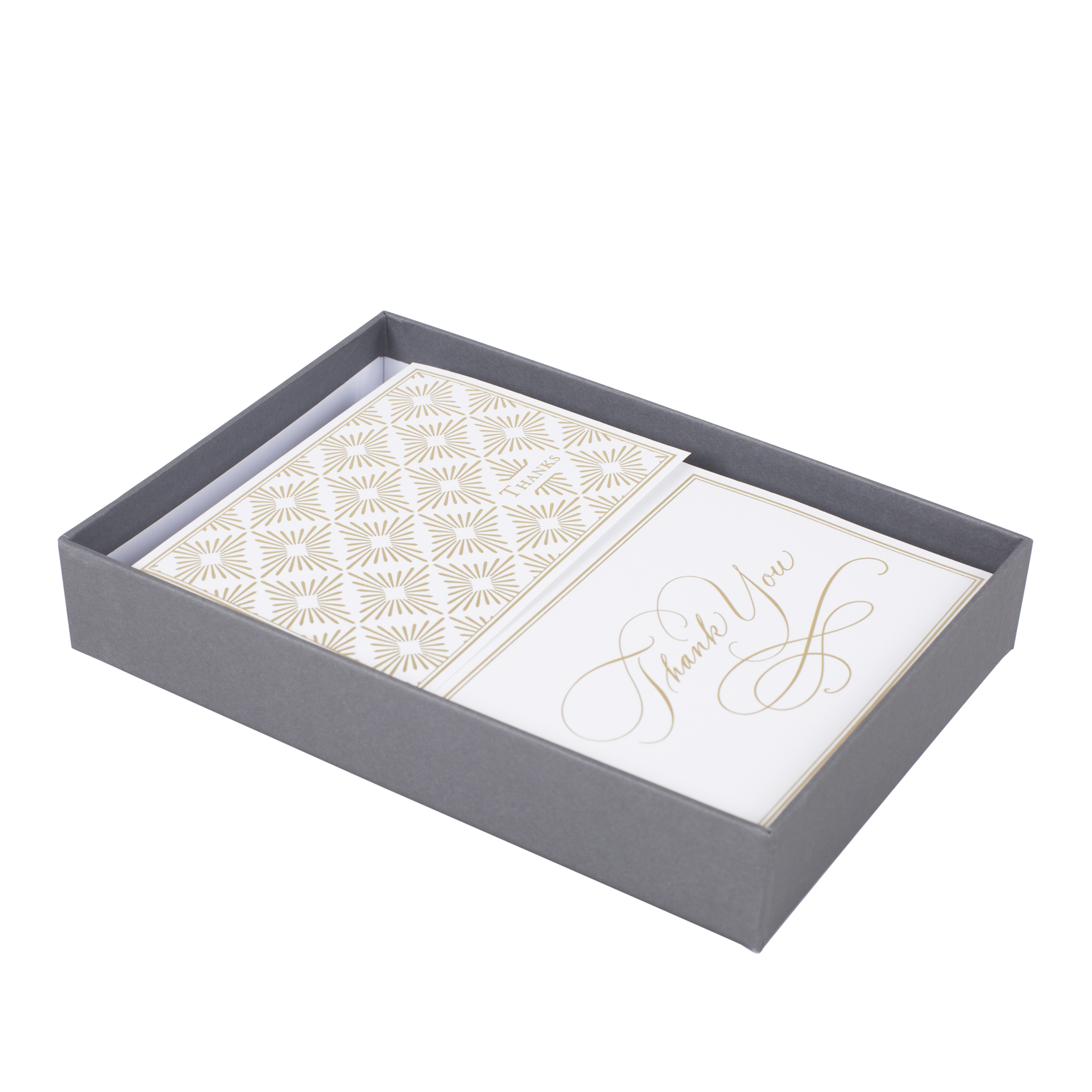 Hallmark Thank You Note Assortment (Gold Foil Scroll, 50 Cards and Envelopes)