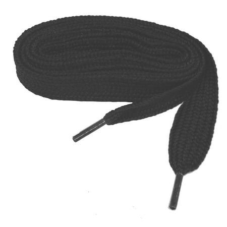 54 Inch 137 cm Coal Black professional FATmax™ Athletic 3/4 inch wide retro FAT sneaker shoelaces - (2 Pair Pack)