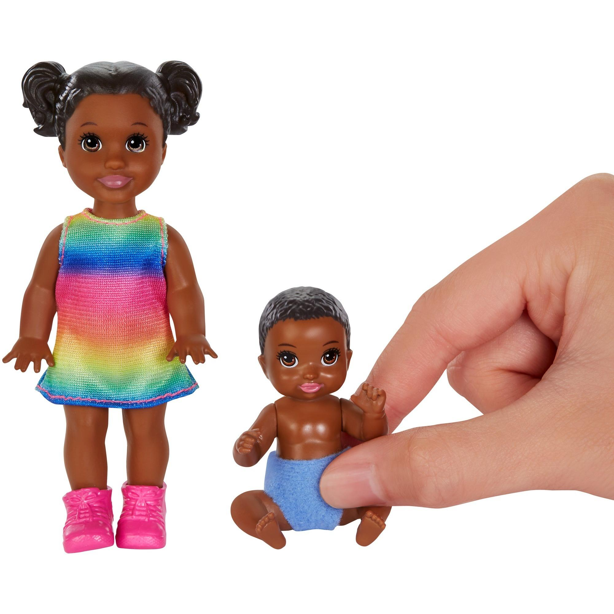 Barbie Skipper Babysitters 2 Sibling Dolls Toddler Doll and Baby in Diaper Gift
