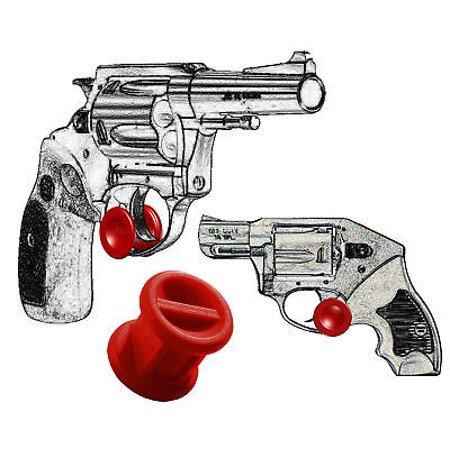 ONE Micro Holster Trigger Stop For Charter Arms Revolver All Models / Red (H & R 32 Revolver Model 732)