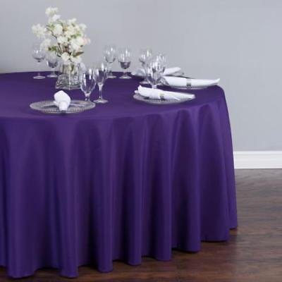 132 In Round Polyester Tablecloth Purple Walmart Com