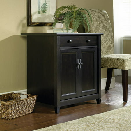Sauder Edge Water Printer and Utility Stand, Estate Black - Candy Buffet Stands