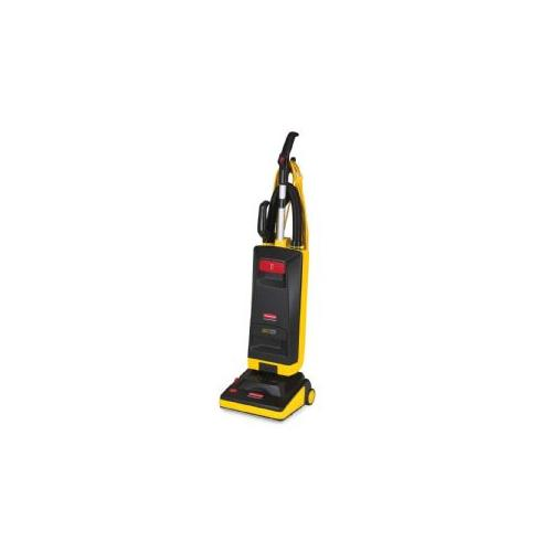RUBBERMAID COMMERCIAL PROD. Upright Vacuum, 12, Heavy-Duty, 40' Cord, Black/Yellow