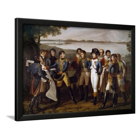 Napoleon Ier Orders to Cast a Bridge on the Danube at Ebersdorf on 19/05/1809 by Ludovico Venuti Framed Print Wall Art