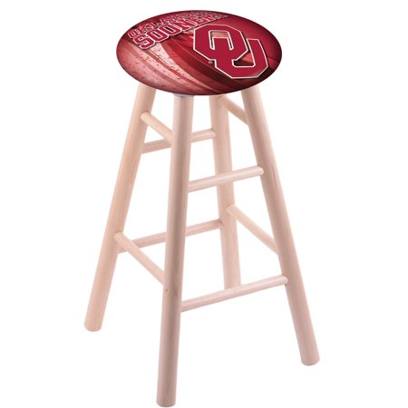 - Maple Bar Stool in Natural Finish with Oklahoma Seat by the Holland Bar Stool Co.