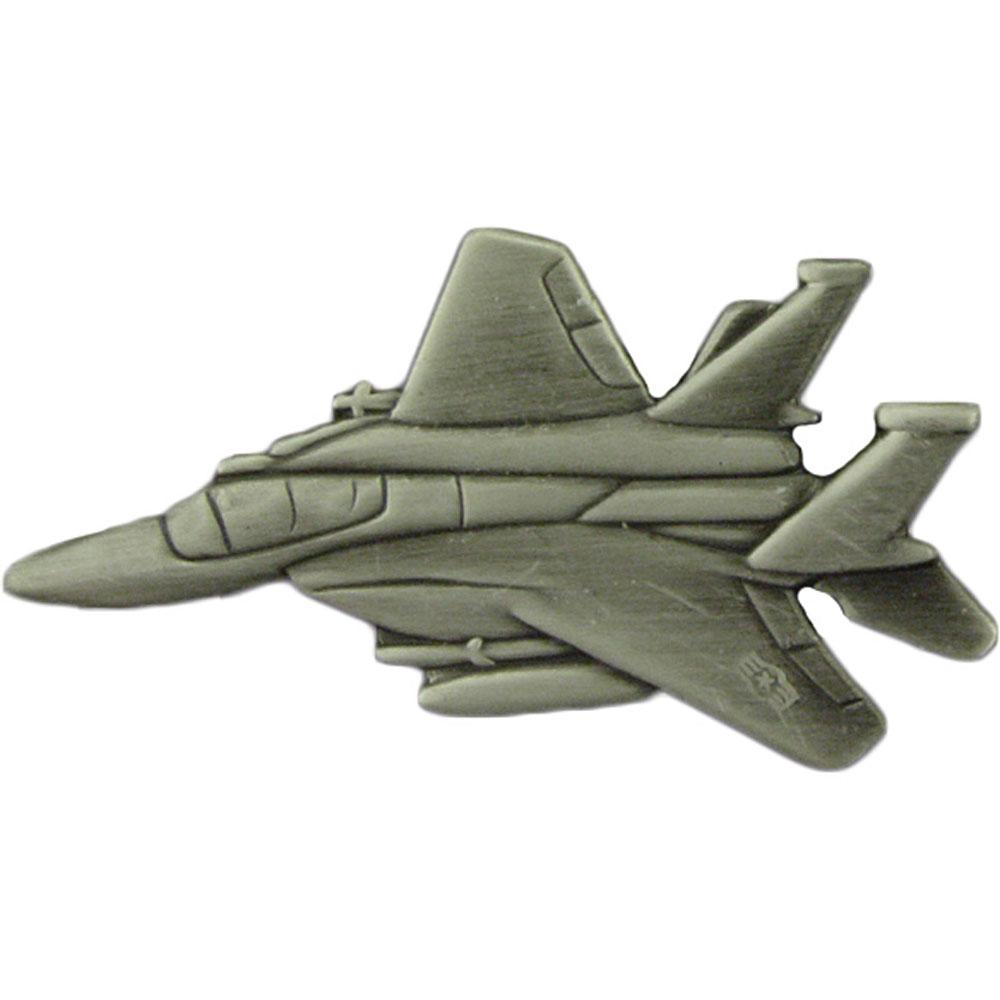 F-15 Eagle Airplane Pin Pewter 2 3/8