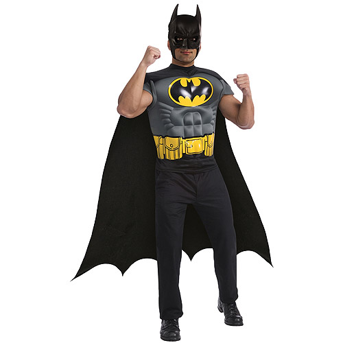 Batman Muscle Chest Top Adult Halloween Costume
