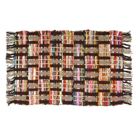 Sunrise Chindi Area Rag Rugs Recycled Multi-Color Woven Fabric Casual For Home Decor Dorm Living Room Entryway (Color Living Room)