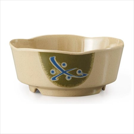Tokyo 16 oz 5.25 x 2.25 Scallop Edge Bowl Melamine/Case of 12 Scallop Edge Bowl