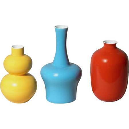 Middle Kingdom 3 Piece Mini Bud Vase Set - Mini Bud Vases