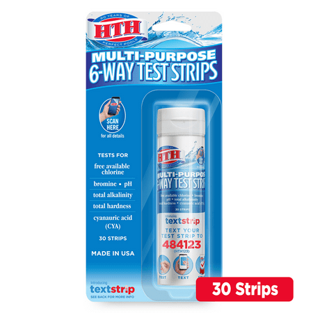 HTH Multi-Purpose 6-Way Test Strips for Swimming Pools ()