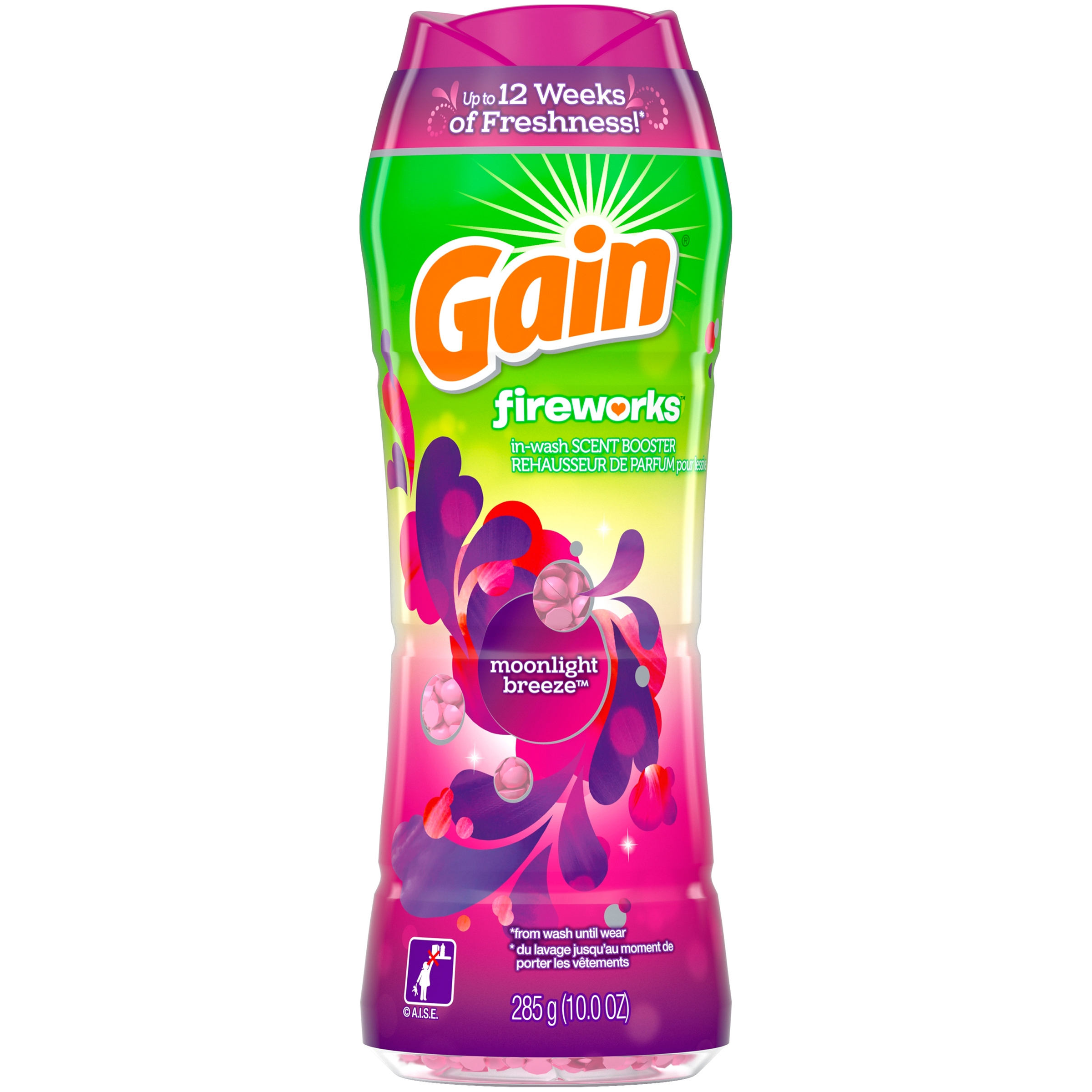Gain Fireworks In-Wash Scent Booster Beads, Moonlight Breeze, 10 oz